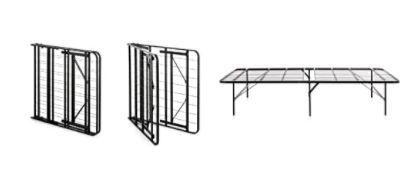 WEEKENDER 14 Inch Folding Platform Bed Frame   Extra Storage Base for All Mattress Types   California King