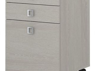 Office by kathy ireland Echo 3 Drawer Mobile File Cabinet  Gray Sand