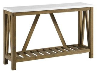 Walker Edison A Frame Rustic Entry Console Table