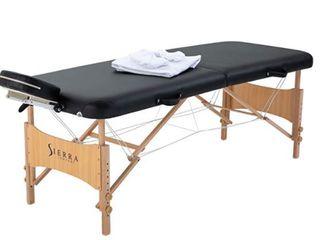 Sierra Comfort All Inclusive Portable Massage Table  Black