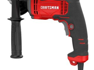 Craftsman 1 2 in  Keyed Corded Hammer Drill Kit 7 amps 3100 rpm 52700 bpm