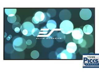 Elite Screens Aeon  135 inch 16 9  Grey Material Home Theater Fixed Frame