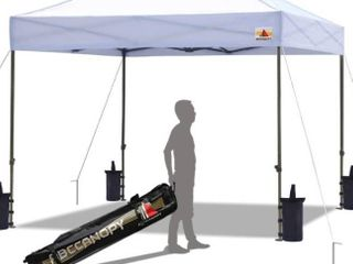 Pop up Canopy Tent Commercial Instant Shelter with Wheeled Carry Bag  Bonus 4 Canopy Sand Bags  10x15 FT  White