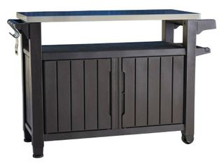 Xl Unity Outdoor Patio Prep Station With Storage Brown   Keter