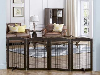 PAWlAND Freestanding Wire Pet Gate for Dogs