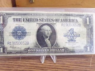 1923 lARGE  1 SIlVER CERTIFICATE