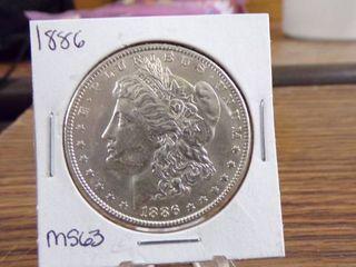 1886 MORGAN DOllAR   MS63