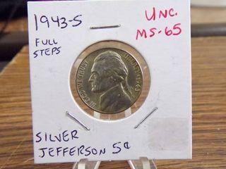 1943 S JEFFERSON NICKEl   MS65   FUll STEPS