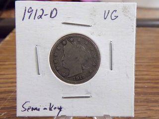 1912 D  V  NICKEl   VG