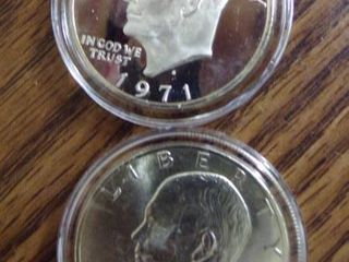 2   1971 S EISENHOWER DOllARS
