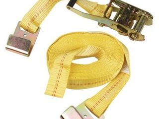 SmartStrap 27  10 000 lbs Flat Hook Ratchet 1 Pk Yellow 263