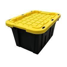 Centrex Plastics  llC Commander 12 Gallon Tote with no latching lid 4 pc