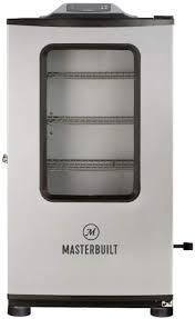 masterbuild Electric Smoker Outdoor Cooking Silver Bluetooth Smart Thermostat Temperature used