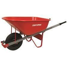 craftsman wheel barrel red 6 ct