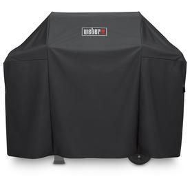 Weber 51 in x 42 in Black Polyester Gas Grill Cover Fits Models Spirit 300