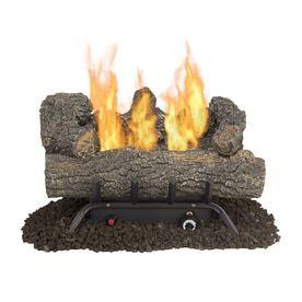 Pleasant Hearth 18 in 30000 BTU Dual Burner Vent free Gas Fireplace logs