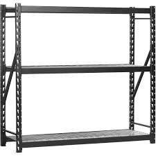 muscle rack pro series 4 shelves heavy duty welded steel rack with wire decking 77w24d72h