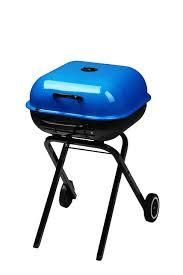 blue grill with legs