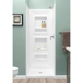 Style Selections White Shower Wall Surround Side and Back Panels  Common  32 in x 32 in  Actual  75 in x 32 in x 32 in