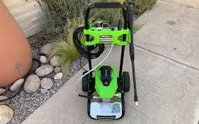 green works 1800 psi electric pressure washer missing wheel and handle
