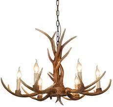 lodge Collection Fallow Ridge Antler Design 6 light Chandelier