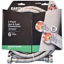 2 pack hot and cold connecters 6 ft 3 pkgs