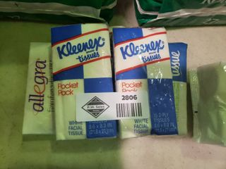 lot of Personal Kleenex Packages