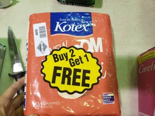 1 Package of Kotex Maxi Pads
