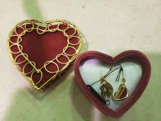 Dual Heart Dangle Earrings Made in Bolivia