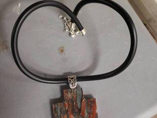 Jasper Cross Pendant and Necklace