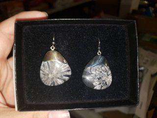 Chrysanthemum Jasper Earrings