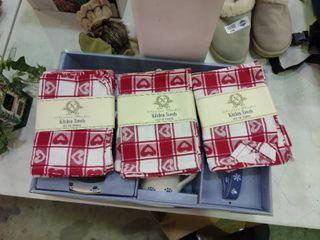 Three Sets of Three kitchen Towels