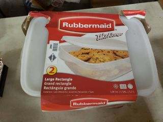 2 large Rectangle Rubbermaid Food Storage Containers