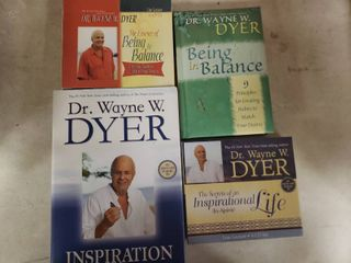 lot of Dr  Wayne W  Dyer Books and CDs