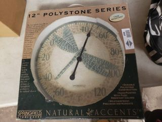 12  Polystone Series Dragonfly Thermometer