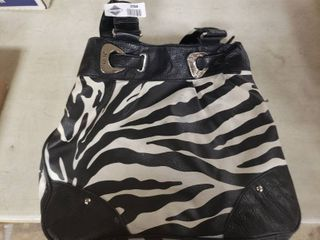 NY C Zebra Striped Handbag