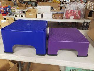 Blue and Purple Step Stools
