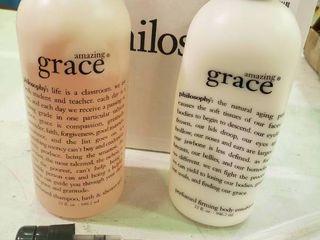 Amazing Grace body emulsion and Body Wash