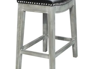 Elmo Bonded leather Counter Stool   Painted   Black