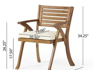Hermosa Acacia Outdoor Chairs  1 chair  by Christopher Knight Home