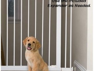 PETMAKER Walk Through Pet Gate  Pressure Mounted to Fit Doorways 29 5 37 5a Wide with Included Expander  Swinging Door  Great for Dogs   Puppies