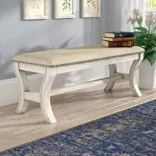 Monaco 48  Bench in Antique Grey Base with Grey Fabric K D
