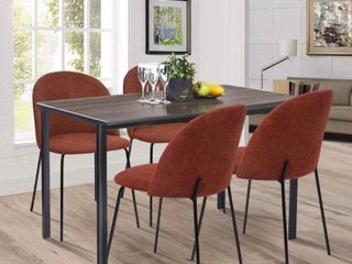 Carson Carrington Modern Fabric Dining Chairs  Set of 2
