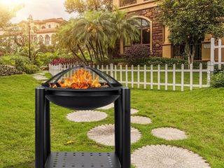 22  Outdoor Iron Brazier Wood Burning Fire Pit