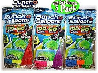 Self Sealing Water Balloons   Pack Of 111   Happy Baby Balloon   Quick Fill  3 per set   111 balloons each set