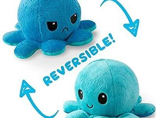 The Original Reversible Octopus Plushie   TeeTurtleas Patented Design   light Blue and Dark Blue   Show your mood without saying a word