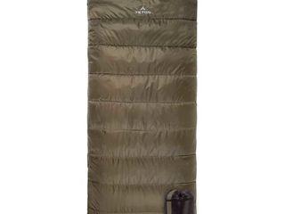 TETON Sports Celsius Xl  18 Degree C   0 Degree F Flannel lined Sleeping Bag  90 x 36  Green  Right Zip