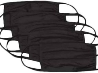 BlACK REUSABlE COTTON FACE MASK   PACK OF 10