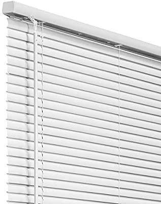 1 Inch Vinyl Mini Blinds  Horizontal Venetian Slat light Filtering  Darkening Perfect for Kitchen Bedroom living Room Office and More  32  W X 64  H  White