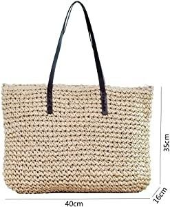 Women s Classic Straw Handbag Summer Beach Shoulder Bag Bohemia New